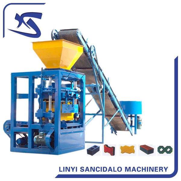QTJ4-26 small automatic concrete hollow block making machine  philippines